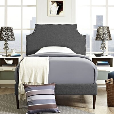 Preciado Wood Upholstered Platform Bed Size: Twin, Finish: Gray