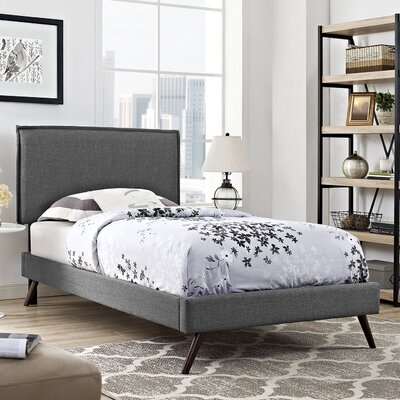 Camille Upholstered Platform Bed Finish: Gray, Size: Twin