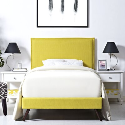 Sardina Upholstered Platform Bed Size: Full, Color: Laguna