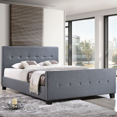 Full/Double Upholstered Platform Bed Color: Smoke