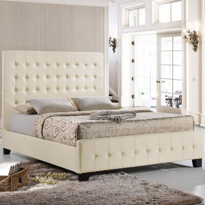 Coramed Frmos Upholstered Platform Bed Size: King, Color: Ivory