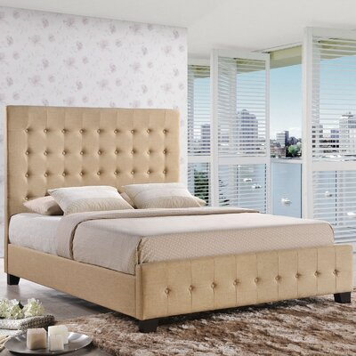 Coramed Frmos Upholstered Platform Bed Size: Queen, Color: Cafe