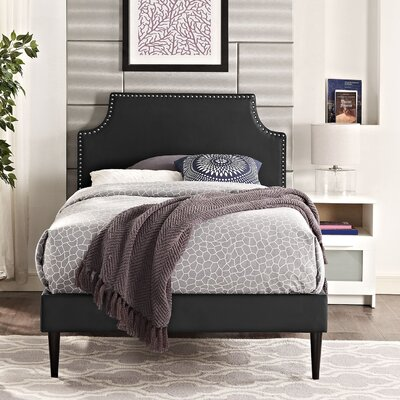 Preciado Solid Wood Frame Upholstered Platform Bed Size: King, Finish: White
