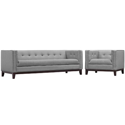 Serve 2 Piece Living Room Set Color: Light Gray
