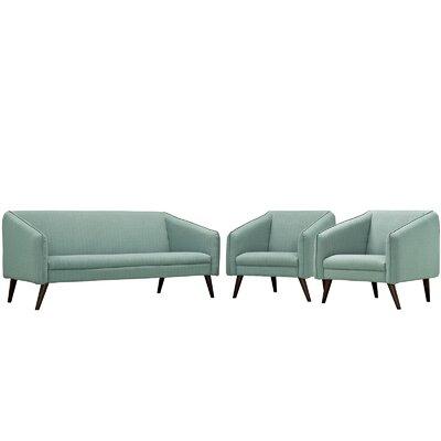 Slide 3 Piece Living Room Set Upholstery: Laguna