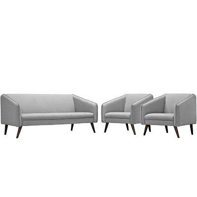 Slide 3 Piece Living Room Set Upholstery: Light Gray