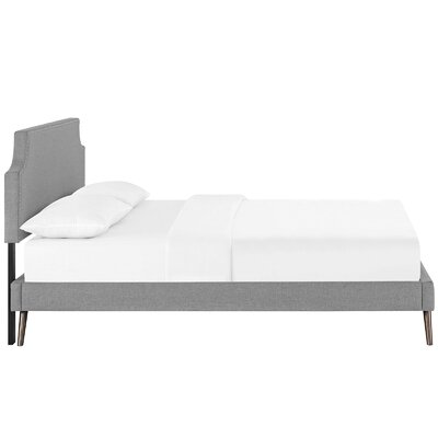 Preciado Upholstered Platform Bed Size: Full, Color: Light Gray