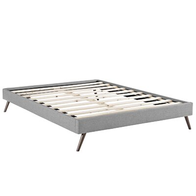 Helen Bed Frame Size: King, Color: Light Gray