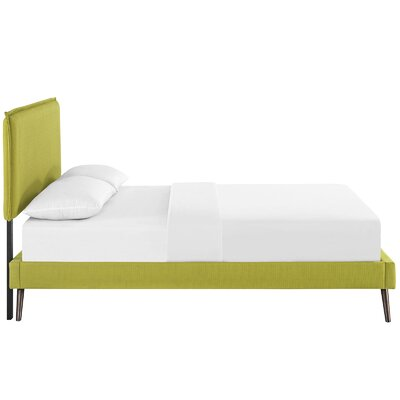 Sardina Upholstered Platform Bed Size: Queen, Color: Wheatgrass