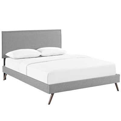 Sardina Upholstered Platform Bed Size: Queen, Color: Light Gray