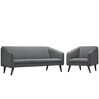 Slide 2 Piece Living Room Set Upholstery: Gray
