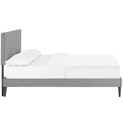Preiss Upholstered Platform Bed Size: Full, Color: Light Gray