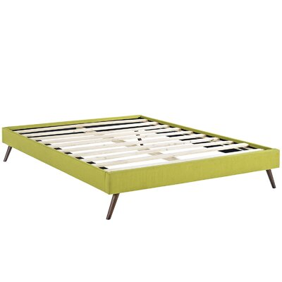 Helen Bed Frame Size: King, Color: Wheatgrass