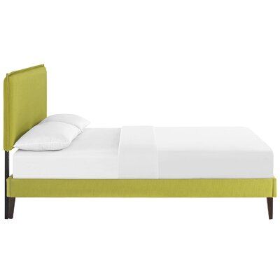 Sardina Upholstered Platform Bed Size: Full, Color: Wheatgrass