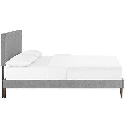 Eyre Upholstered Platform Bed Size: Full, Color: Light Gray
