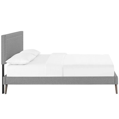 Eyre Upholstered Platform Bed Size: King, Color: Light Gray