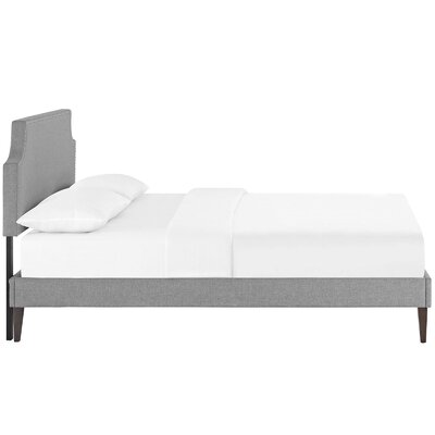 Preciado Upholstered Platform Bed Size: Queen, Color: Light Gray