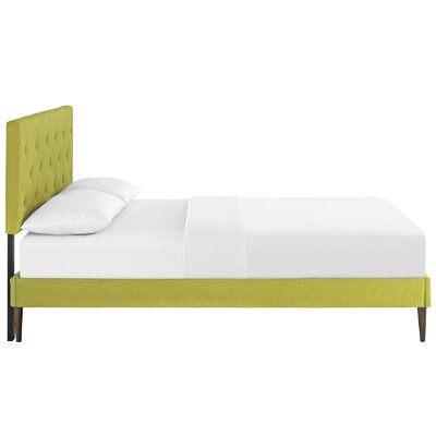 Ziemer Upholstered Platform Bed Size: Queen, Color: Wheatgrass