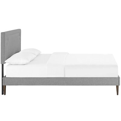 Kerley Upholstered Platform Bed Size: Full, Color: Light Gray