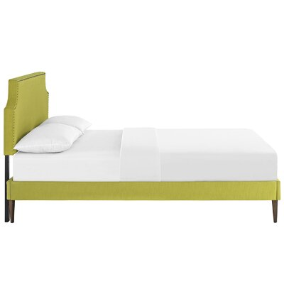Preciado Upholstered Platform Bed Size: Queen, Color: Wheatgrass