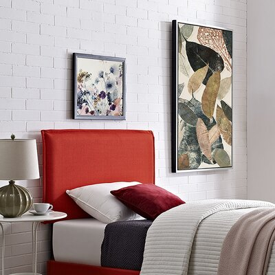 Sardina Upholstered Panel Headboard Size: Twin, Upholstery: Atomic Red
