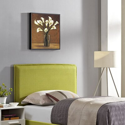 Sardina Upholstered Panel Headboard Size: Full, Upholstery: Wheatgrass