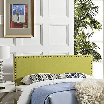Preiss Queen Upholstered Panel Headboard Upholstery: Wheatgrass