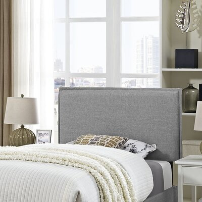 Sardina Upholstered Panel Headboard Size: Twin, Upholstery: Light Gray