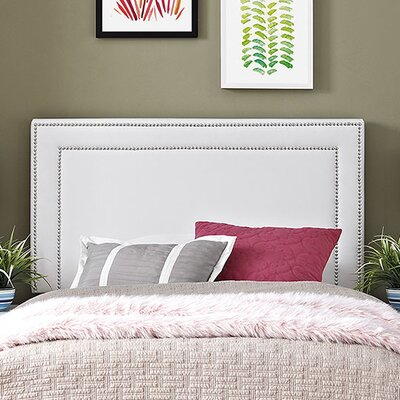 Jessamine Twin Upholstered Panel Headboard Upholstery: White