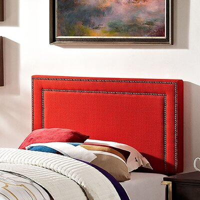 Jessamine Twin Upholstered Panel Headboard Upholstery: Atomic Red
