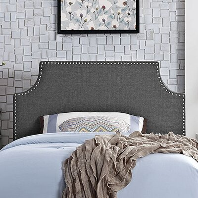 Laura Upholstered Panel Headboard Size: Twin, Upholstery: Gray