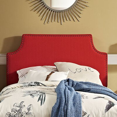 Preciado Solid Wood Upholstered Panel Headboard Size: Twin, Upholstery: Atomic Red