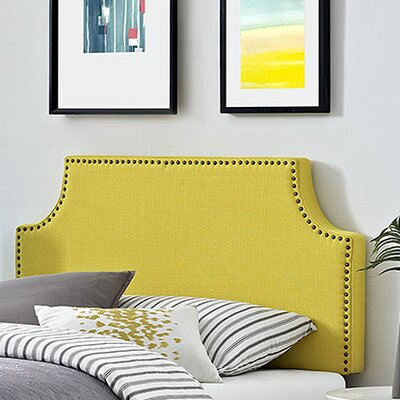 Preciado Solid Wood Upholstered Panel Headboard Size: Queen, Upholstery: Wheatgrass