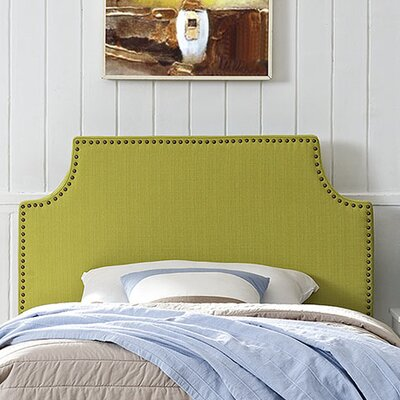 Preciado Solid Wood Upholstered Panel Headboard Size: Twin, Upholstery: Wheatgrass