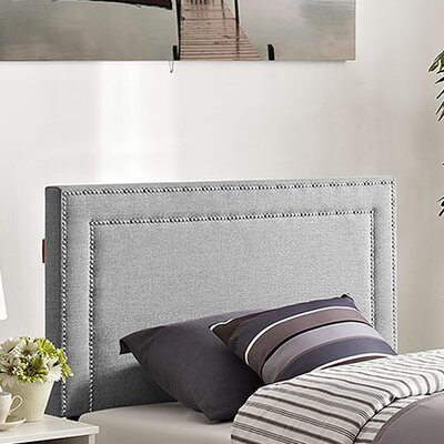 Eyre Twin Upholstered Wood Panel Headboard Upholstery: Light Gray