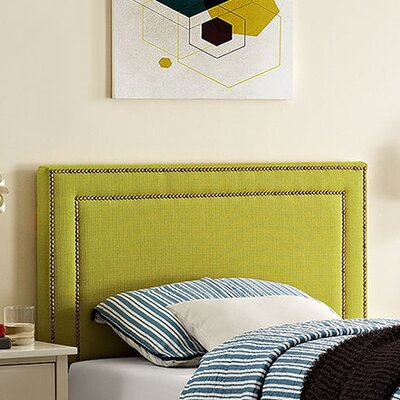 Eyre Twin Upholstered Wood Panel Headboard Upholstery: Wheatgrass