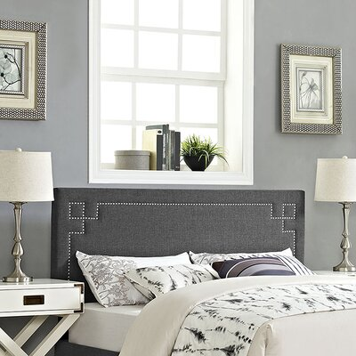 Kerley Upholstered Panel Headboard Size: Full, Upholstery: Gray