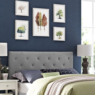 Ziemer Upholstered Panel Headboard Size: King, Upholstery: Light Gray
