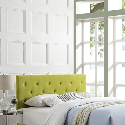 Ziemer Upholstered Panel Headboard Size: King, Upholstery: Wheatgrass