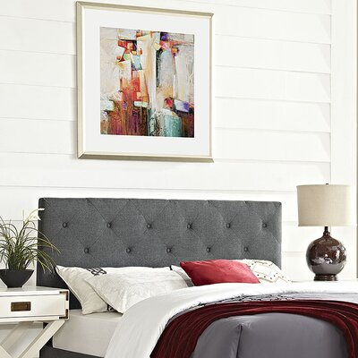 Ziemer Upholstered Panel Headboard Size: King, Upholstery: Gray