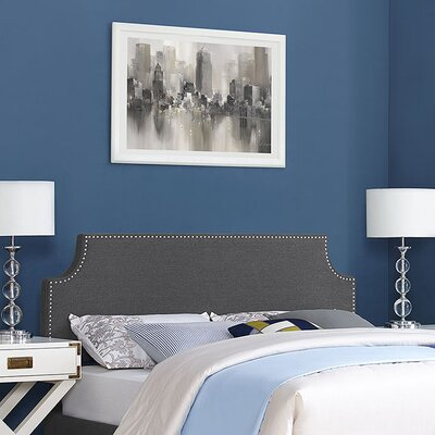 Preciado Upholstered Panel Headboard Size: Full, Upholstery: Light Gray