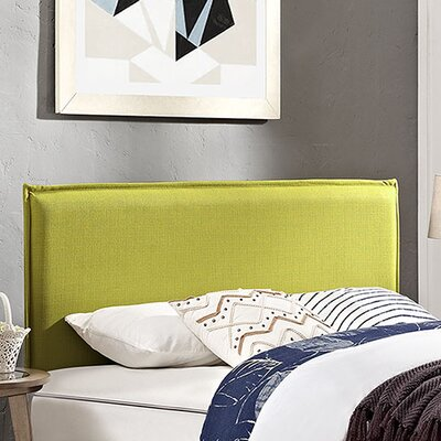 Camille Upholstered Panel Headboard Upholstery: Wheatgrass, Size: King