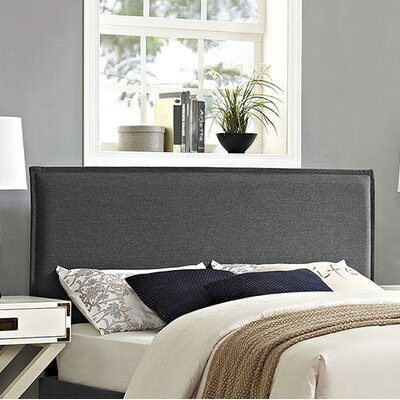 Camille Upholstered Panel Headboard Upholstery: Gray, Size: King