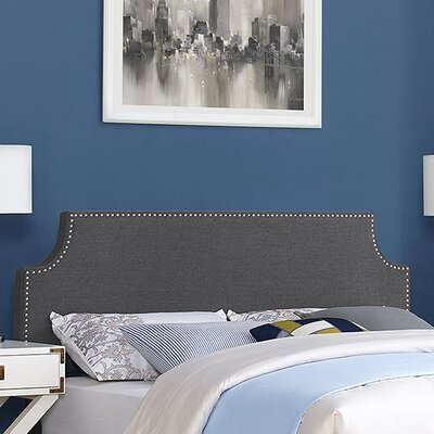 Preciado Upholstered Panel Headboard Size: Full, Upholstery: Gray