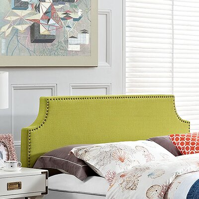 Preciado Upholstered Panel Headboard Size: King, Upholstery: Wheatgrass