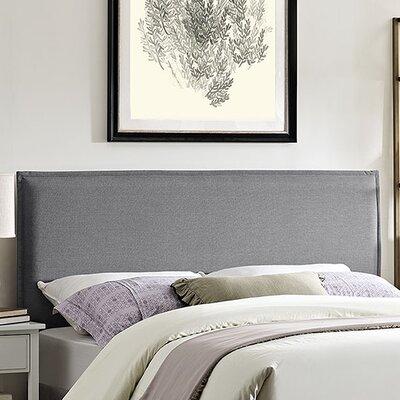 Camille Upholstered Panel Headboard Size: Full, Upholstery: Light Gray