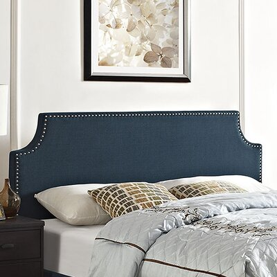 Laura Upholstered Panel Headboard Size: Full, Upholstery: Azure