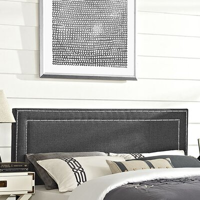 Eyre Upholstered Wood Panel Headboard Upholstery: Gray, Size: King
