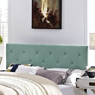 Terisa Upholstered Panel Headboard Size: Full, Upholstery: Laguna