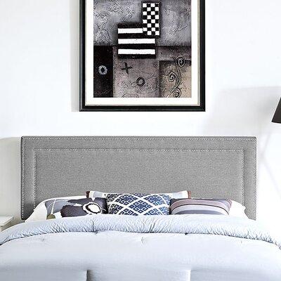 Eyre Upholstered Wood Panel Headboard Upholstery: Light Gray, Size: King